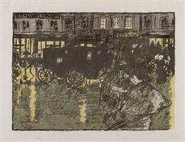 rue, le soir, sous la pluie - rainy street at evening by pierre bonnard