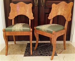 set of two biedermeier chairs