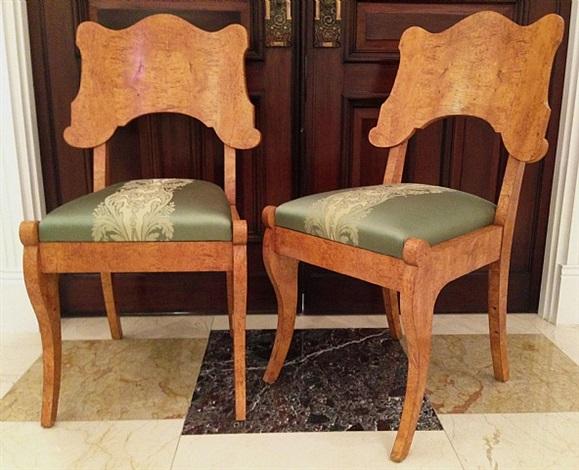 set of two biedermeier chairs