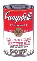 campbell's old fashioned vegetable soup by andy warhol