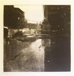 rain, copley square by ben aronson