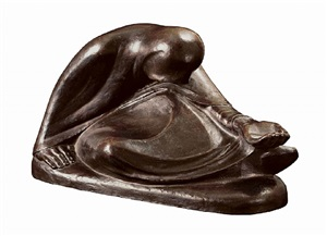 russische bettlerin ii / russian beggar woman ii by ernst barlach