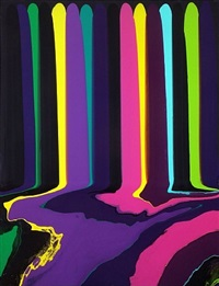 puddle painting: black bruce by ian davenport