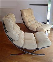 paire de grands fauteuils de salon / pair of lounge chairs