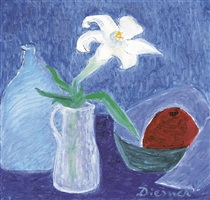 still life with lily by gerhild diesner