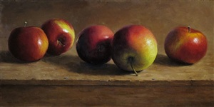 row of apples (sold) by michael naples
