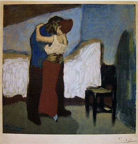 after the embrace, 1901 by pablo picasso