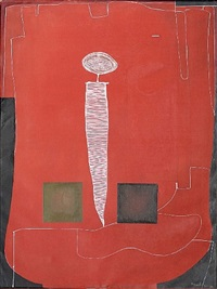 untitled i (red) by eduardo arranz-bravo