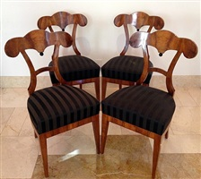 set of four biedermeier side chairs