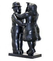 Artworks by fernando botero at david benrimon fine art llc - Botero uomo in bagno ...