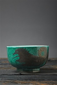 jörmungandr sea serpent bowl by wilhelm kage