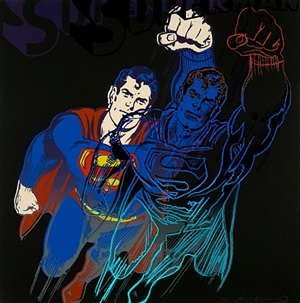 superman (from myths) by andy warhol