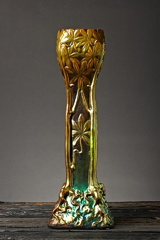 tree of life vase by zsolnay