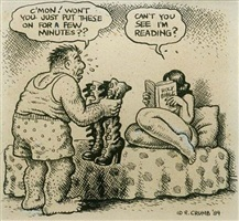 can't you see i'm reading by robert crumb