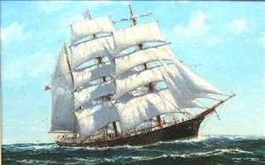 barque brasil of yarmouth, nova scotia by jack lorimer gray