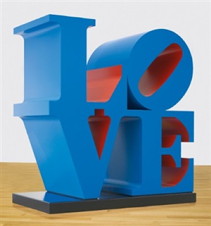love red-blue by robert indiana