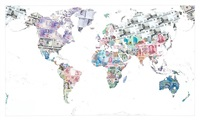 money map of the world 2013 by justine smith