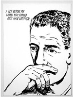 untitled (i see before me...) from <i>plots on loan i</i>, 2000 by raymond pettibon