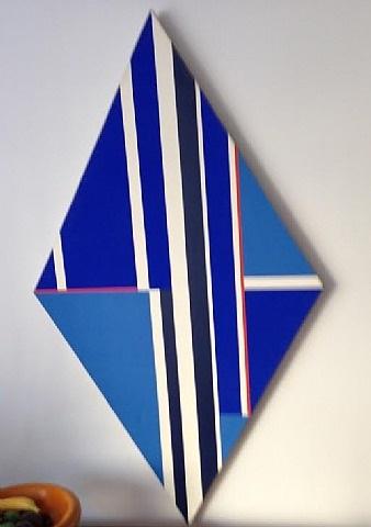 blue rhomb by ilya bolotowsky