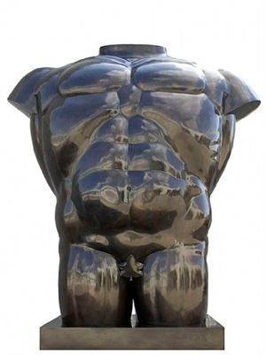 male torso by fernando botero