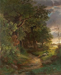 woodland interior by william trost richards