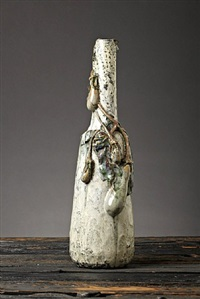 eggplant bottle form vase by henri laurent-desrousseaux and henri léon charles robalbhen