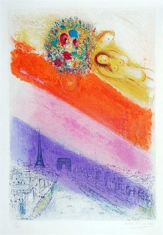 les champs-elysées by marc chagall