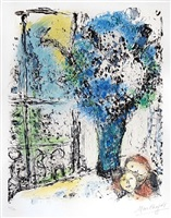 le bouquet bleu (the blue bouquet) by marc chagall