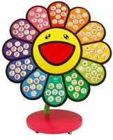 jellyfish eyes x e-ma flower stand rainbow by takashi murakami