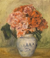 flower vase by pierre-auguste renoir