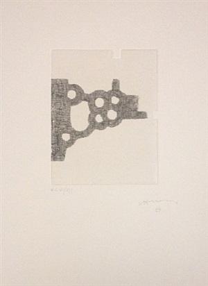 "etching from ""jorge semprún: l'écriture ou la vie"" (french edition) by eduardo chillida"