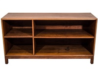 handsome walnut bookcase by jens risom