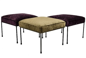 set of three paul mccobb ottomans by paul mccobb