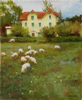 fall coming in methune, france (sold) by kathy anderson