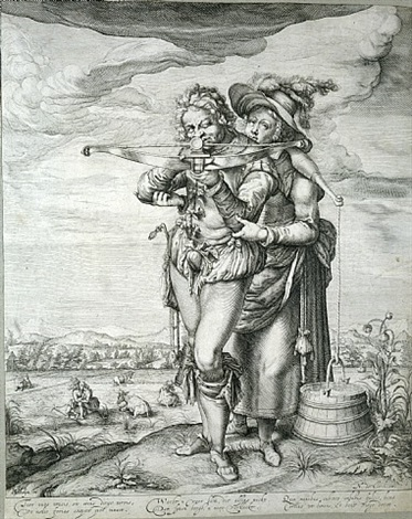 the cross-bowman assisted by a milkmaid by jacques de gheyn ii