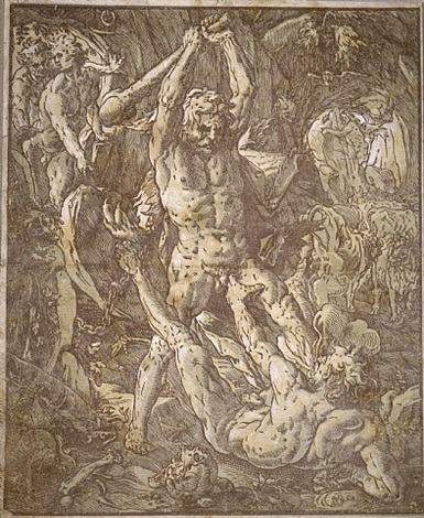 hercules and cacus by hendrik goltzius