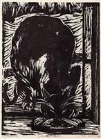 fressende katze by philipp bauknecht