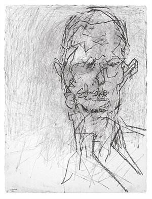 head of david landau by frank auerbach