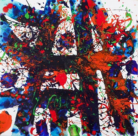 untitled sff.1741 by sam francis