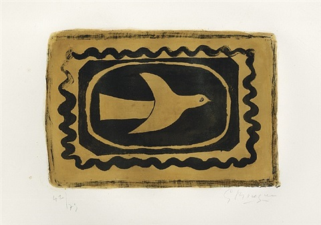 oiseau verni (oiseau vii), überfirnisster vogel, vogel vii by georges braque