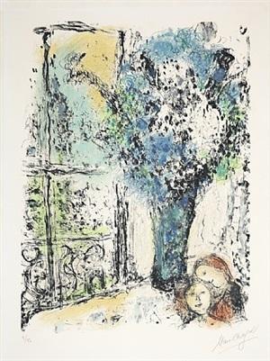 le bouquet bleu (der blaue strauß) by marc chagall