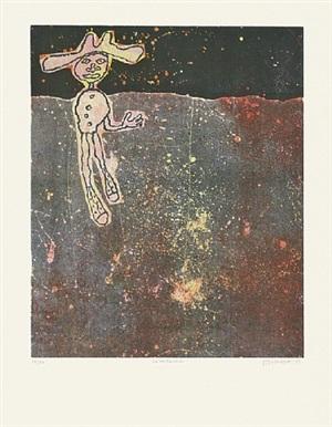 le noctambule (der nachtschwärmer) by jean dubuffet