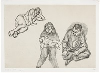 four figures (vier figuren) by lucian freud