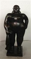 donna in piedi con panno by fernando botero