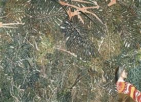 philodendrons avec lilette en ikat by sam szafran