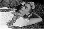 frida kahlo in the sun, (coyoacan, mexico) by leo matiz