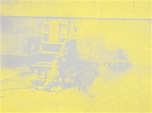 electric chair aus 'electric chairs' by andy warhol