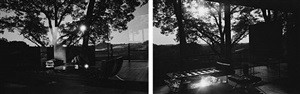 glass house #8 and glass house #9 diptych by mauro restiffe