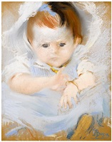 portrait of a baby by paul-albert besnard