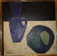 still life with vase and fruit by yves alix